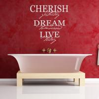 Sticker decorativ Cherish Yesterday Dream - Sticker pentru baie sau camera de copii