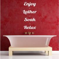 Sticker decorativ Enjoy, Lather, Soak, Relax - Sticker pentru baie sau camera de copii