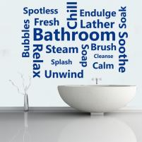 Sticker decorativ Bathroom Words - Sticker pentru baie sau camera de copii