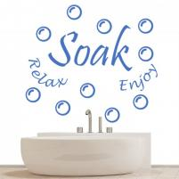 Sticker decorativ Bathroom Words - Sticker pentru baie sau camera de copii Soak Relax Enjoy