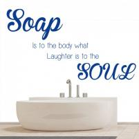 Sticker decorativ Soap to the body - Sticker pentru baie sau camera de copii