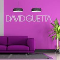 Sticker decorativ David Guetta Logo DJ Club - Sticker pentru sufragerie sau decor club