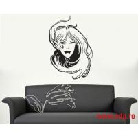 Sticker decorativ Mysterious girl