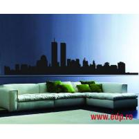 Sticker decorativ New York Gemenii