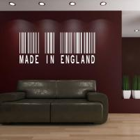 Sticker decorativ Made in England, cod de bare - Sticker pentru living